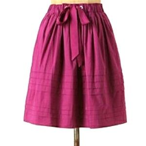 NWT Odille Anthropologie A-Line Skirt Purple XS
